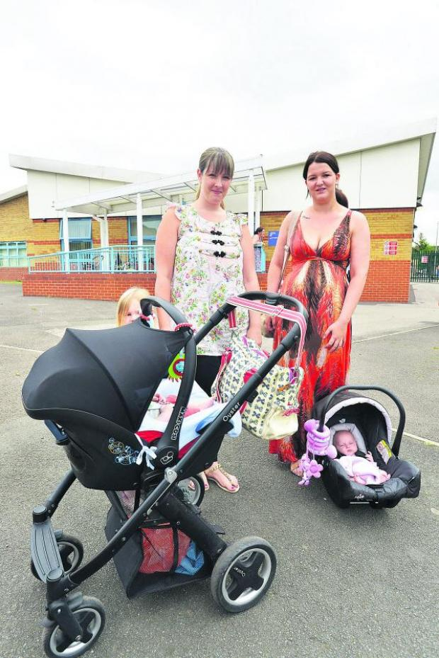 Swindon Advertiser: Michelle Bennett and Fran Holmes with their children Georgia, Joshua and Aoife