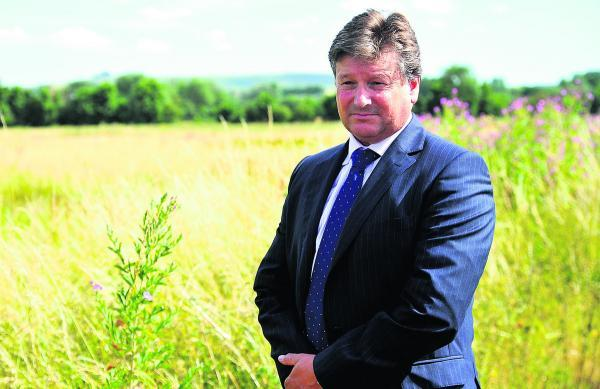 The chief executive of Capital Land, Jeremy Francis, who is representing half the landowners of the Eastern Villages development near Wanborough