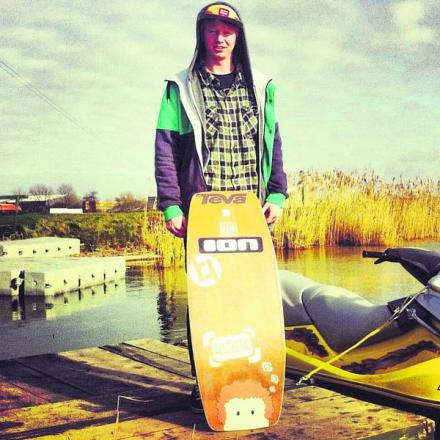 Wakeskating champion James Harrington now features in the Guinness Book of World Records