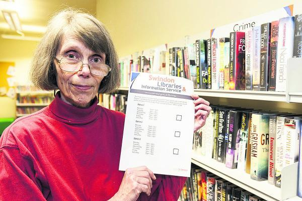 Shirley Burnham of Save Old Town Library group