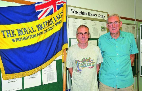Wroughton Royal British Legion branch is having an exhibition about the village's experience during the First World War. From left, organiser Ian Woodford and Danny Hicks