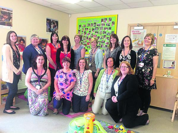Staff at Butterflies Children's Centre in Swindon which could face closure under plans by Swindon Council