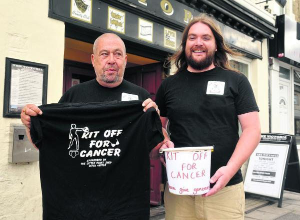 Roger Fairman, left, and Darren Simons, landlord of the Vic