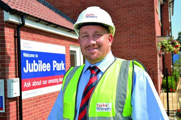 Robert Barry, site manager at the Jubilee Park development in Royal Wootton Bassett, has won a national housebuilder award