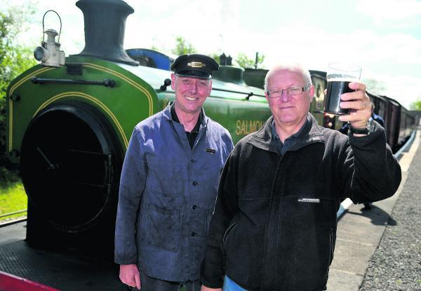 Jim Croton and Tony Norris at last year's Swindon and Cricklade Railway Real Ale and Cider Festival