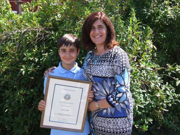 Schoolboy praised for bravery during fire at his Kingshill home