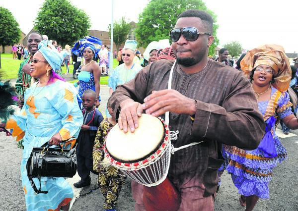 Revellers have fun at a previous Penhill Carnival