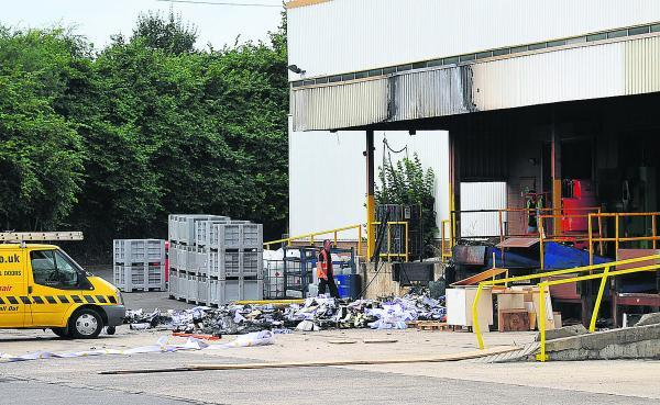 Multisets Print Solutions on Groundwell Industrial Estate, where paper was set on fire in the loading bay