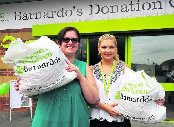 Carol Carmichael and Emma Boam at the new Barnardo's store
