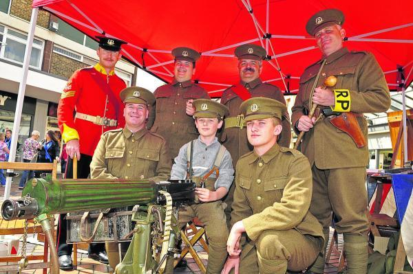The Norfolk Regiment Living History Group at Wharf Green on Saturday