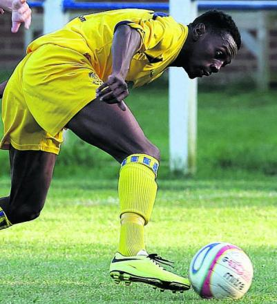 Substitute Omar Simpson struck in the second half of Chippenham's 2-0 win at Biggleswade