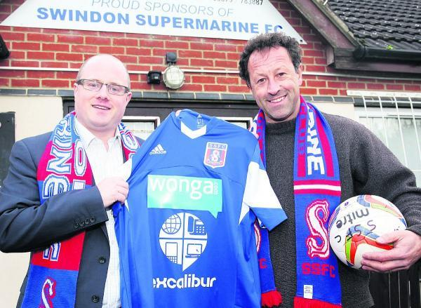 James Phipps, of Excalibur, which sponsors many sports in the town, including Swindon Supermarine, pictured with Supermarine  chairman Jez Webb