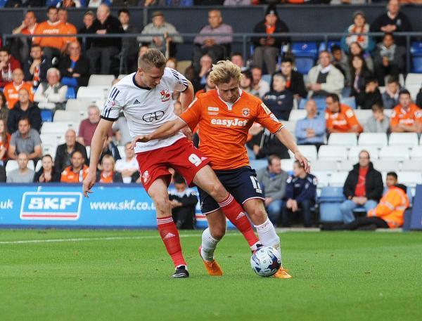 Two-goal Michael Smith in action at Luton