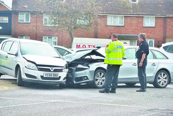 The scene of the accident at the junction of Drakes Way and Ocotal Way