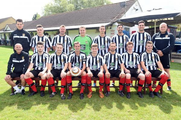 Malmesbury Vics' players line up ahead of the new season