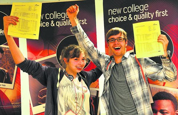 Claire Blakman and Harry Jones start the celebrations. Harry is off to Cambridge University to study natural sciences