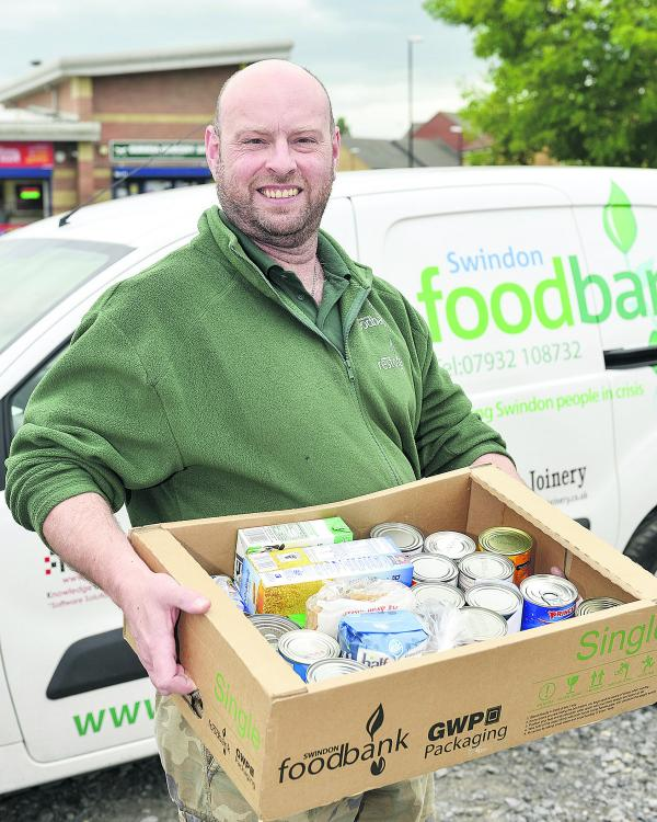 Andrew Hill, project manager of Swindon Foodbank