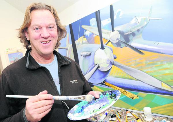 Artist David Bent is one of many artists taking part in Swi