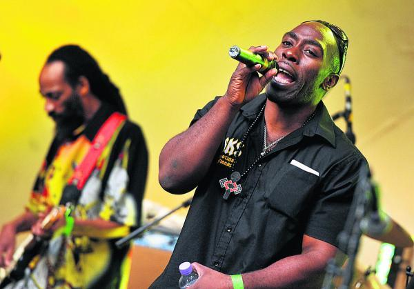 Macka B and the Roots Ragga Band stir it up at last year's Reggae Garden Festival at the Town Gardens Bowl