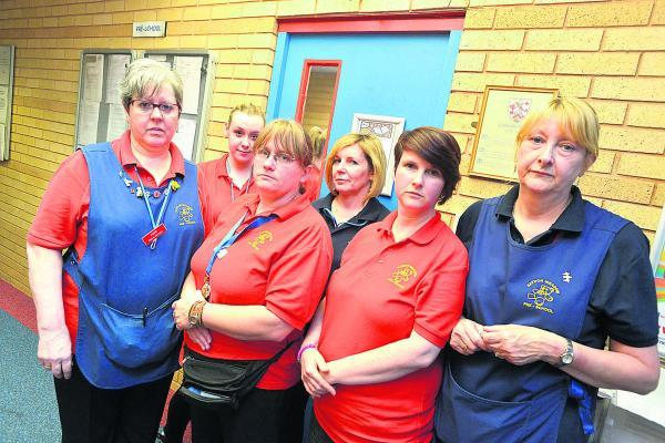 Staff at Haydon Meadow Pre-School, which has wiped out an earlier 'inadequate' Ofsted grade