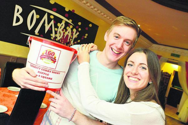 Keep korma and carry on – Emma Dunn and Scot D'Arcy at their specially organised curry night