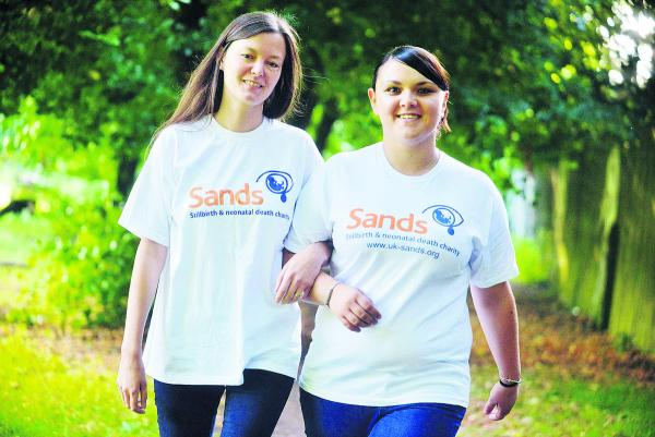Cathy Milburn and Rebecca Porter, of the charity Sands, who  are planning a walk to raise funds for a bereavement suite at GWH