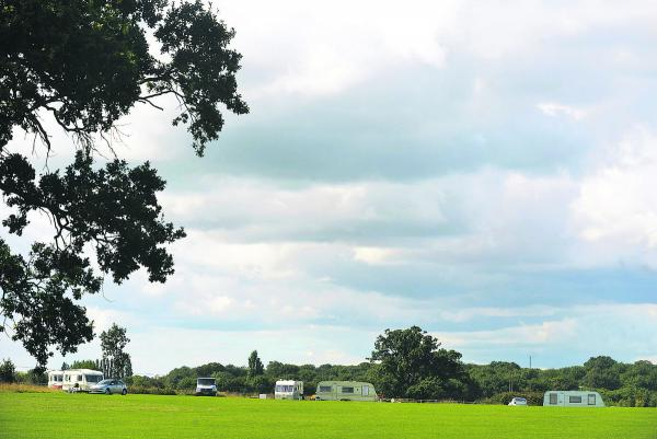 Travellers said they had set up camp at Lydiard Park to visit a family funeral