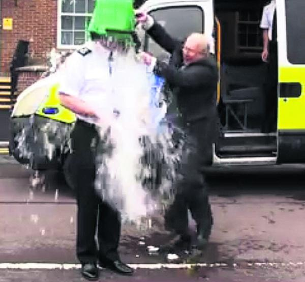 Video: Ice Bucket Challenge: Wiltshire Police's Chief Constable drenched