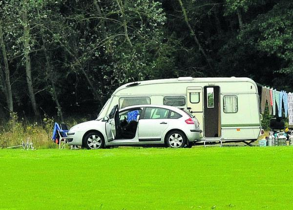 Travellers who were staying in Lydiard Park have now moved to Shaw Forest Park, Mead Way       Picture: Vicky Scipio