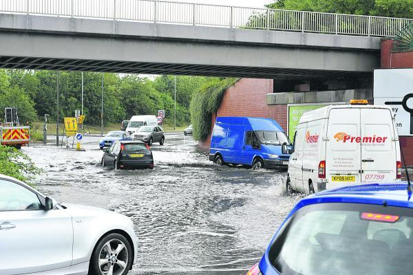 Flooding at Bruce Street Bridges, which will hopefully be alleviated by the roadworks