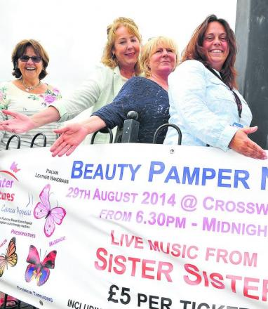 From left, Ros Burden, Trish Toner, Bev Neal and Lesley Bayliss who are organising a pamper evening in aid of GWH's brighter futures breast cancer appeal