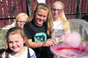 From left, Grace Harrey, Annabella Downing, Phoebe Madison and Reanna Nolan at Southbrook fete. Picture: Vicky Scipio