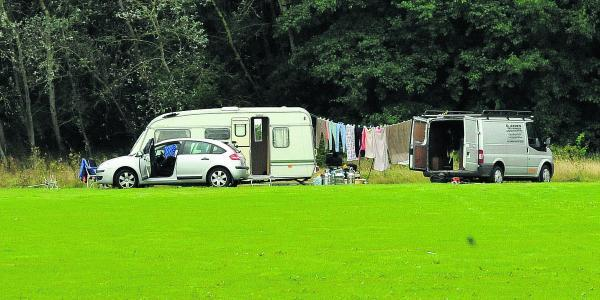 The travellers who camped at Lydiard Park last week