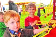At the  Big Gig event in Broad Town are Harry and Ollie Peck. Pictures: Vicky Scipio