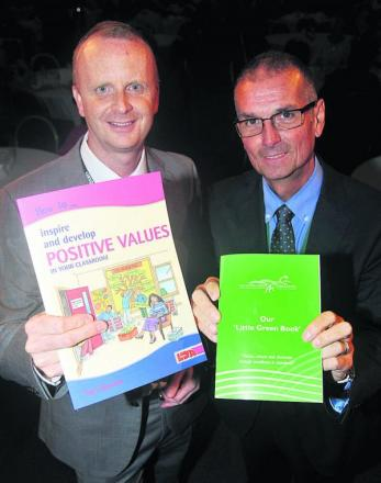 Simon Cowley, director of Primary Schools in White Horse Federation, left, and Nick Capstick, CEO of White Horse Federation