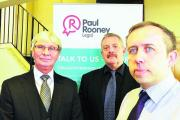 Ray Aimson, Michael Bray and Mike Burns at information event run by Paul Rooney solicitors for anyone wishing to claim  because of the fire at Averies