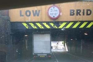 Another lorry hits town centre bridge during rush hour