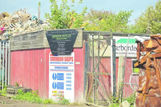 Swindon Skips' site at Cheney Manor. An enforcement notice has been served on the company