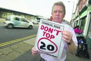 Paul Gregory, of Belgrave Letting, is backing the 20mph campaign along Commercial Road