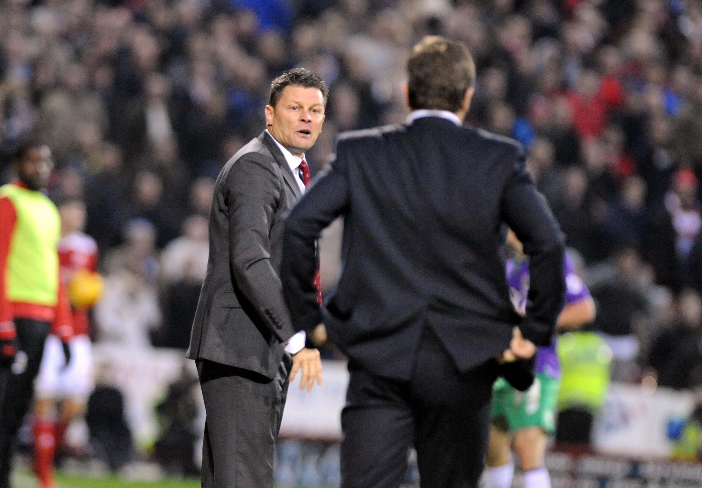 City boss Steve Cotterill and Mark Cooper will face off again tomorrow