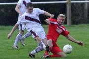 Joe Dorey (right) was Purton's match-winner against Shortwood United Reserves
