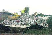 Rubbish being sent to landfill at the Hills waste site in Compton Bassett