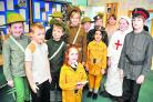 Peatmoor pupils are dressed for their production about the First World War. The school will be performing the show for parents today as part of commemorations for the 100th anniversary of the outbreak of the Great War            Picture: DAVE COX