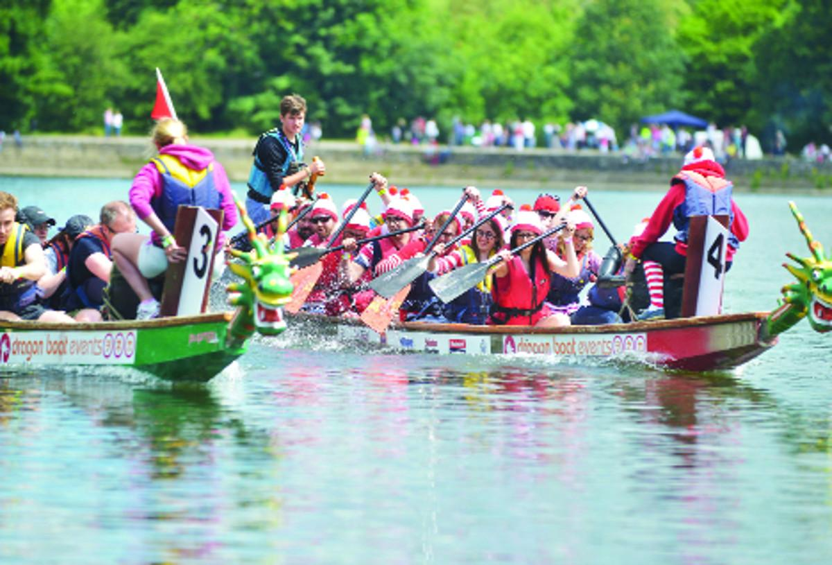 The Adver team takes part in Dragon Boat Racing
