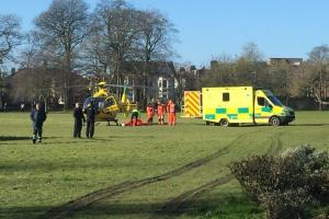 Man fighting for his life after 30-foot fall from an Emlyn Square window