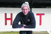 Highworth Town striker TJ Bohane at The Elms ground ahead of Saturday's FA Vase  quarter-final    Picture:  STUART  HARRISON