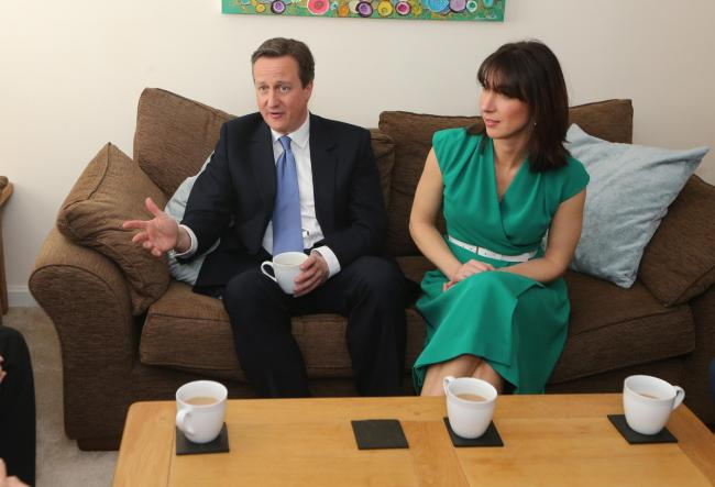 David and Samantha Cameron in Stratton after the Conservative manifesto unveiling at the UTC. Picture: STUART HARRISON