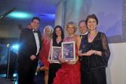 MD of White Horse Employment Network Beverley Glover (right) picks up Small Business of the Year award (Pic by Glenn Phillips)