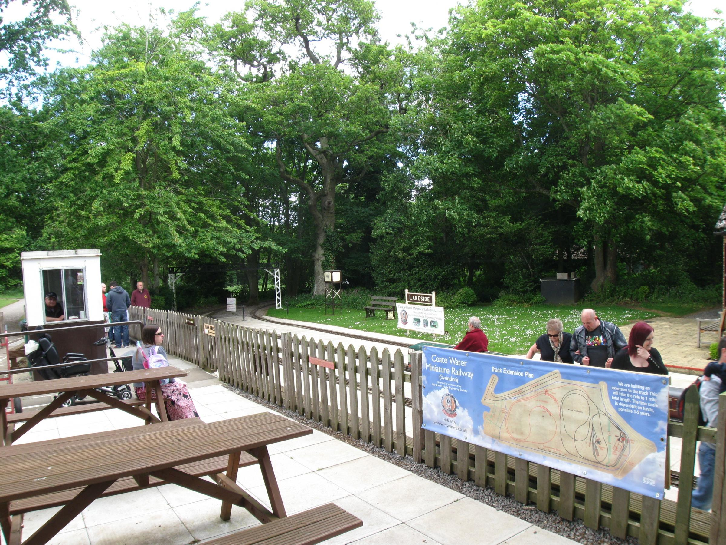 Lakeside Station at the Coate Water Miniature Railway on June 6, 2015. The railway is marking 50 years since it first appeared on the Wiltshire site.