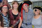 The Chalet School's pirate themed summer fete. Pic shows school staff (l-r) Mel Finlay, Beth Suffolk, Kirsty Sarahs, Vicky Bartlett. (31740073)